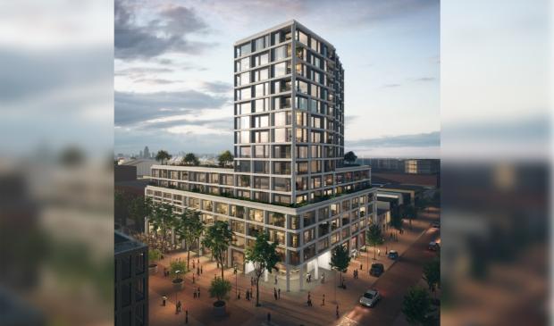 <p>Het is de bedoeling dat hier ongeveer 165 appartementen komen met op de begane grond ruimte voor winkels en horeca.</p>