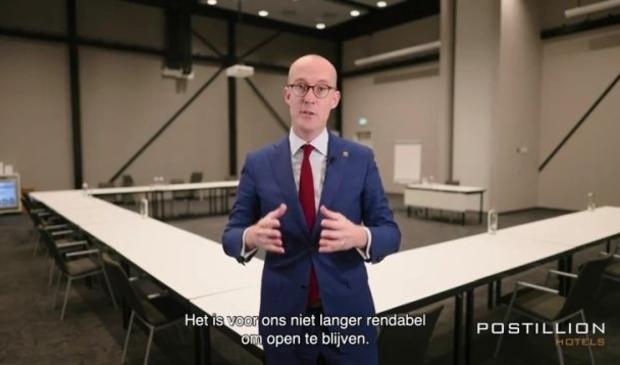 <p>Eerder deze maand kondigde algemeen directeur Erik-Jan Ginjaar de tijdelijke sluiting van de Postillion Hotels aan</p>