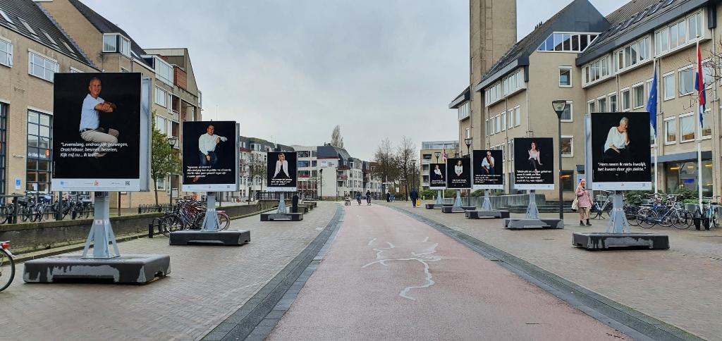De buiten-expositie voor het gemeentehuis Irene van Valen © BDU media