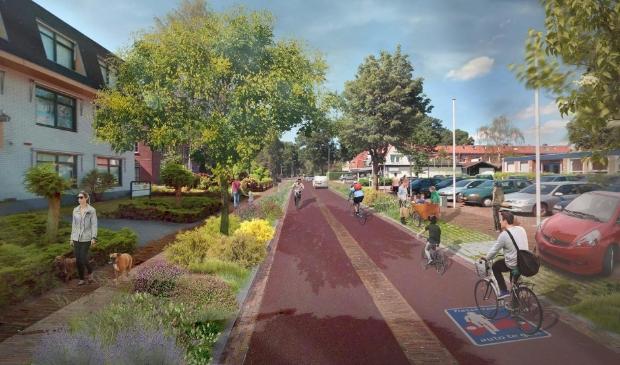 Het ontwerp van de nieuwe Stationsweg.