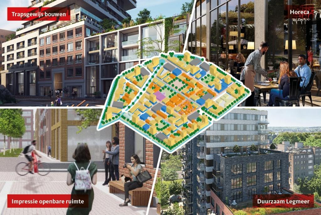 Impressie van toekomstplannen voor bedrijventerrein Legmeer. Gemeente Amstelveen © BDU media