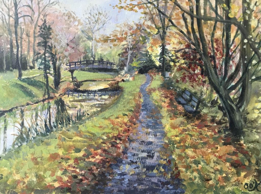 Een schilderij gemaakt door Olivia van Imkerspark Olivia O'Keeffe © BDU media
