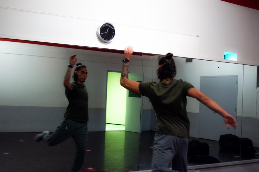 Delano Spenrath in het danscentrum aan de Peppelensteeg in Ede. Marlies Haitsma/Bureau Spotlight © BDU Media