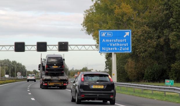 <p>De afslag Amersfoort-Vathorst op de A28, de derde ontsluitingsweg voor Vathorst waarom de SGLA via de Raad van State vroeg en kreeg.</p>