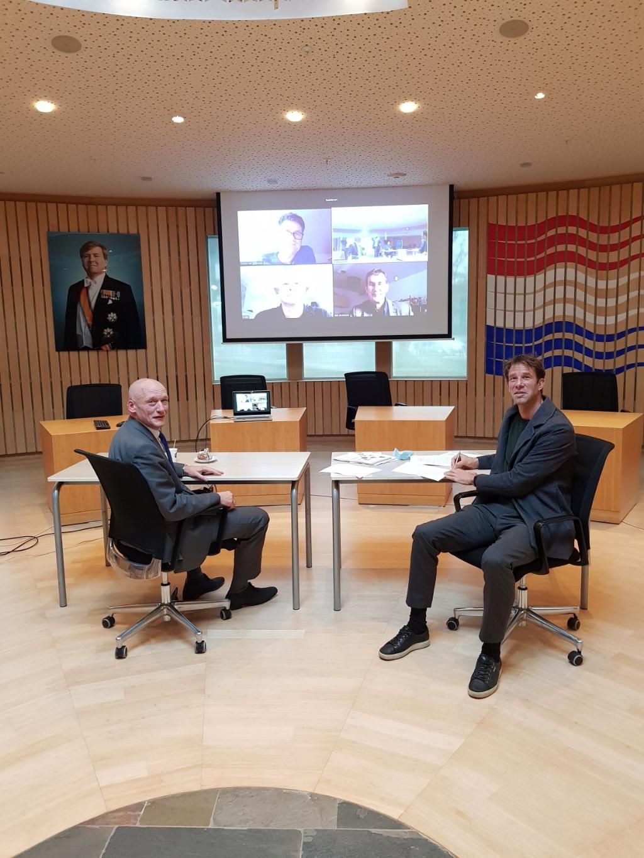 Wethouder Hans Marchal en Batian Nieuwerth (Viveste) Gemeente Wijk bij Duurstede © BDU media