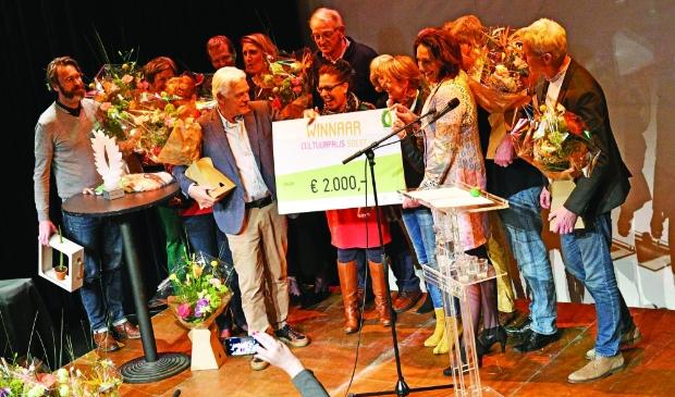 <p>Beeld van de vorige uitreiking van de Cultuurprijs Soest, in 2019.</p>