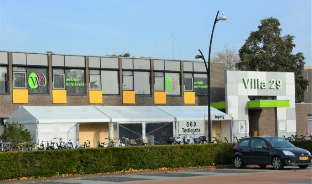 <p>De testlocatie van de GGD in Barneveld, bij het jongerencentrum Villa 29 in Barneveld.</p>