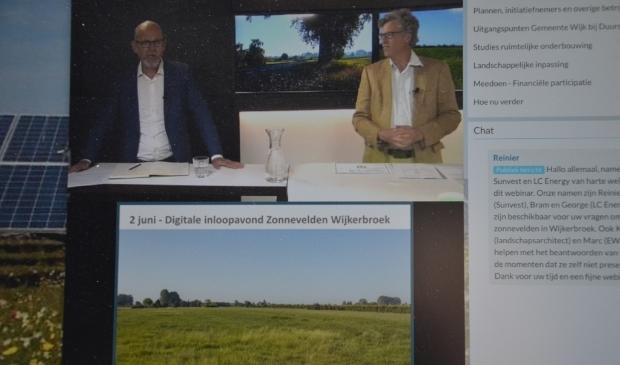 De digitale inloopavond Zonnevelden Wijkerbroek in juni