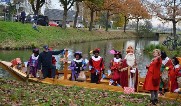 Vorig jaar kwam Sinterklaas met de Krommerijnder naar Cothen