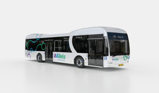 <p>De RRReis bussen kennen twee uitvoeringen: een &lsquo;standaard&rsquo; variant (wit) voor de reguliere stads- en streekbussen en een Hoogwaardige Openbaar Vervoer variant (paars-wit).</p>