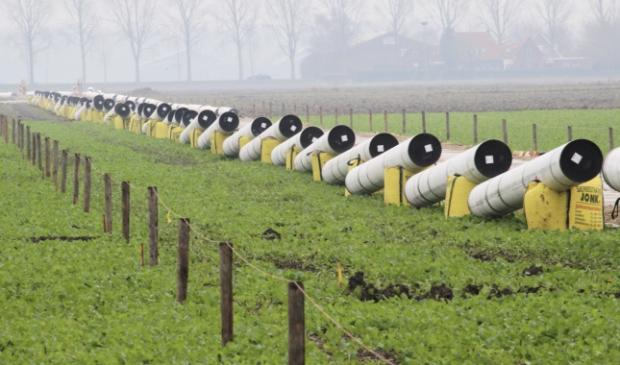 <p>Buizendelen langs De N207 in het weiland tussen IJweg en Hoofdweg.</p>