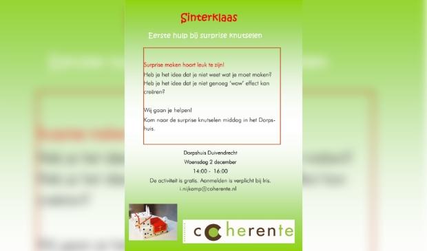 Knutselmiddag Sinterklaas