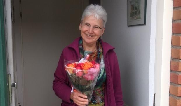 Mevrouw De Vries, 100ste deelnemer van ANWB Automaatje Houten