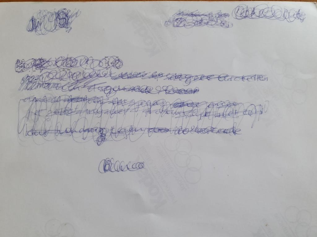 <p>Een doorgekraste brief aan Susanne, die met hulp van TNO ontcijferd is. </p> <p>Marianne Vermaat</p> © BDU Media