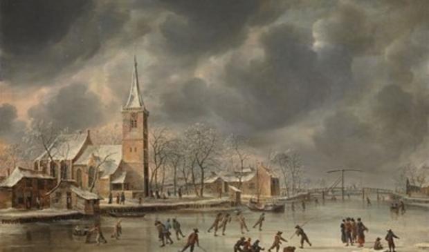<p>De middeleeuwse Amstelkerk volgens Jan van Beerstraten (1659).</p> Historische Vereniging Wolfgerus van Aemstel © BDU media