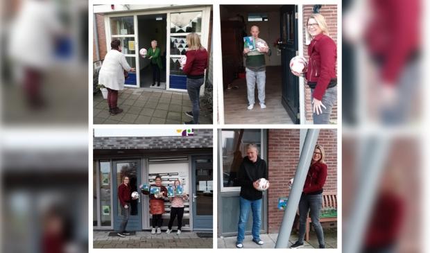 SDVB verrast bewoners de Rozelaar met voetballen