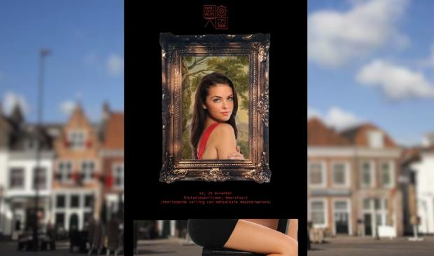 <p>In het weekend voorafgaand aan de KunstKijkDagen staat op het Eemplein een portretlijst.&nbsp;&nbsp;</p>