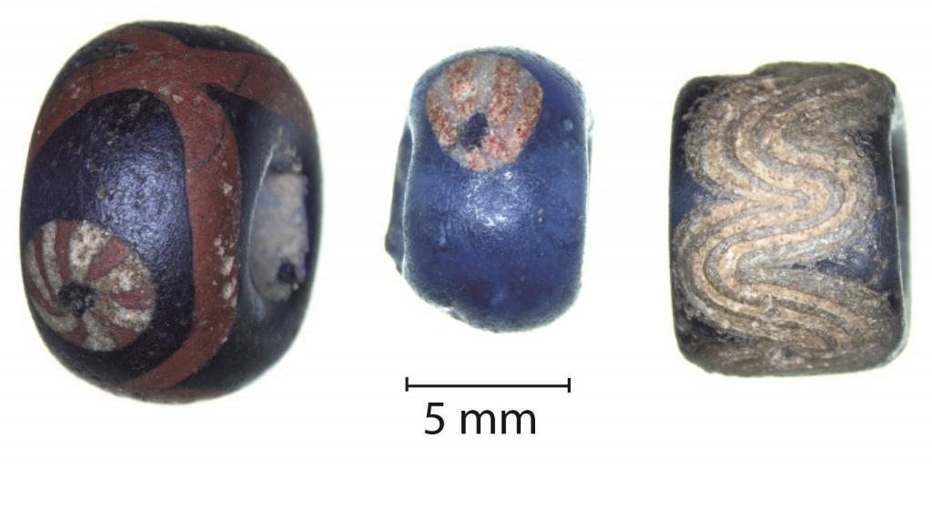 Kralen uit Ribe, gevonden in Dorestad Mette Langbroek © BDU media