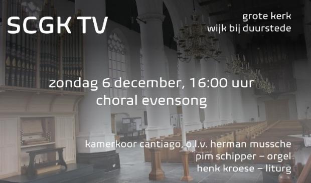 Choral Evensong via live stream