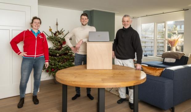 <p>Van links naar rechts Joanne Verbeek, Gerson Vermeulen en Gerard Vermeulen.</p>