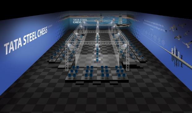 <p>Er is een speciale opstelling ontworpen om de 14 grootmeesters in het middelpunt te plaatsen.</p>