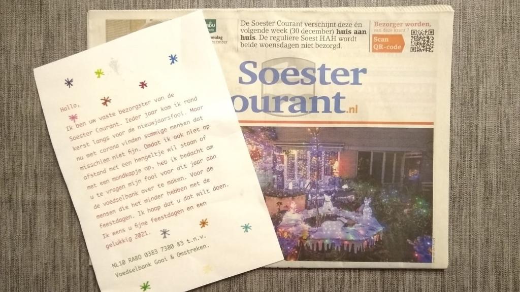 <p>De abonnees kregen de krant &eacute;n een vriendelijke verzoek in de bus.</p> Johan van Beek © BDU media