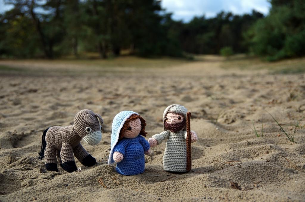 Illustratie uit De grote reis van een kleine ezel Mieke Tollenaar © BDU