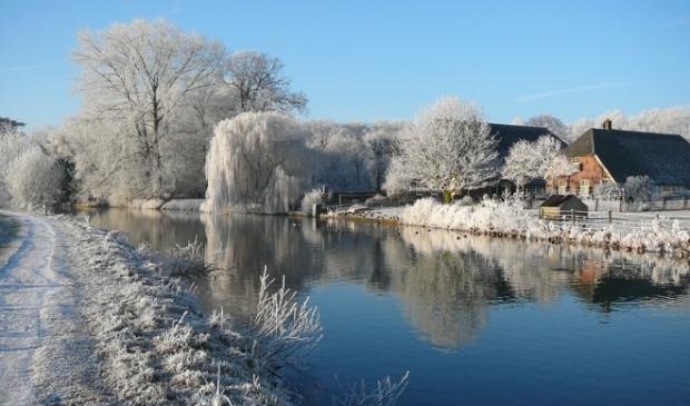 <p>Een winters landschap langs de Kromme Rijn</p>