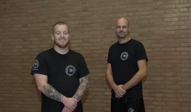 <p>Mike Makkelie (links) en Ramon van de Griend. </p>