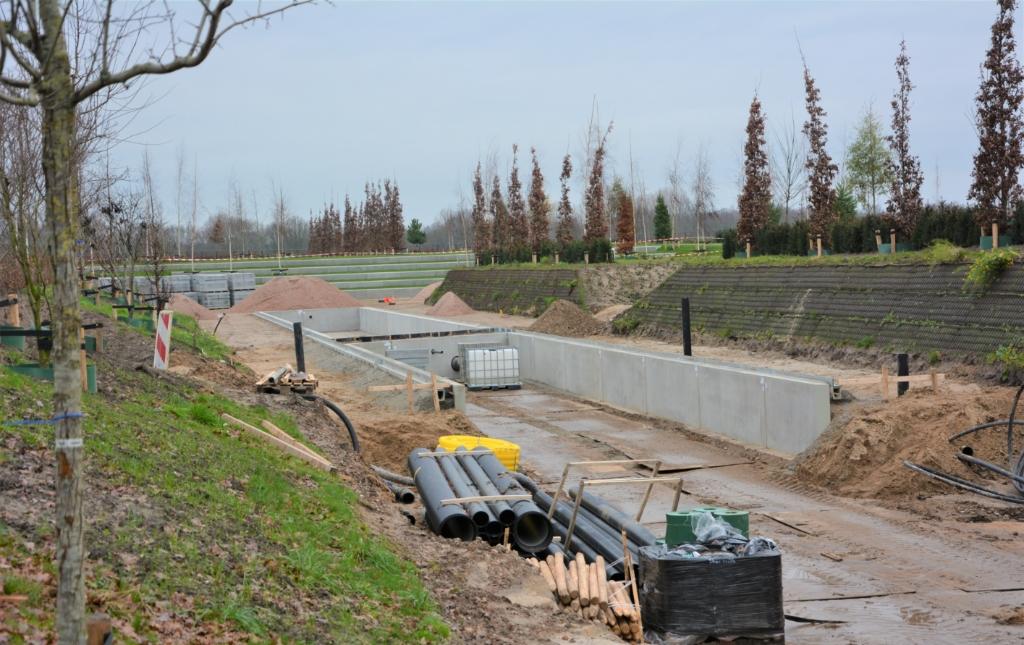 Beeld van de voortgang van de uitbreiding van begraafplaats De Plantage in Barneveld. Gerwin van Luttikhuizen © BDU media