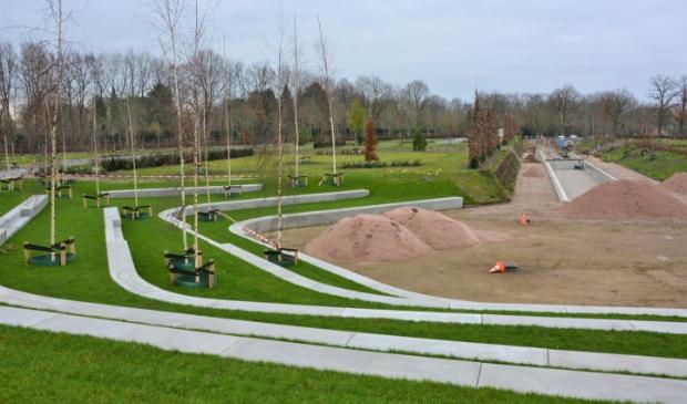 <p>Beeld van de voortgang van de uitbreiding van begraafplaats De Plantage &nbsp;in Barneveld.</p>
