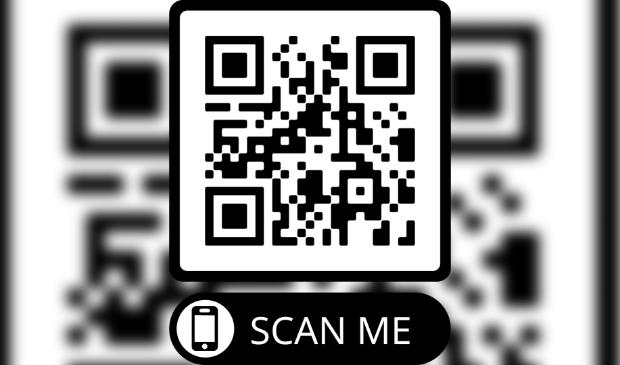 QR code naar de donatiepagina van de actie