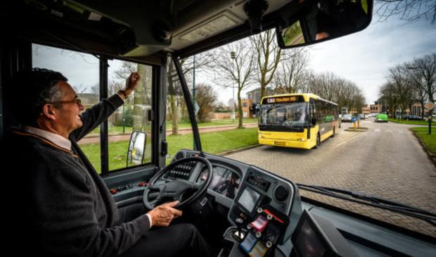 Bussen rijden vanaf het busstation de Molenzoom op
