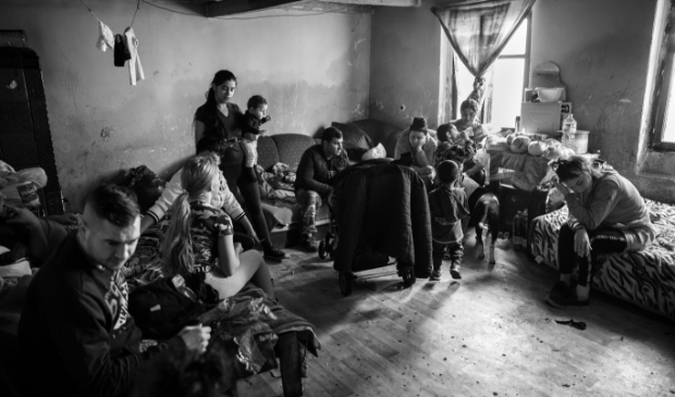 Drie generaties Roma familie