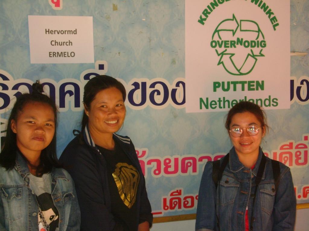 Sponsers Kerstpakketten Over/Nodig Putten Vrijwilligers Tonkla © BDU media