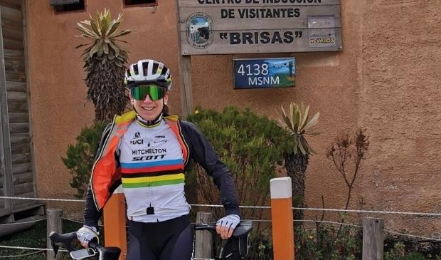 <p>Ter voorbereiding op het wielerseizoen 2020 verbleef Annemiek van Vleuten voor een hoogtestage in Colombia.</p>