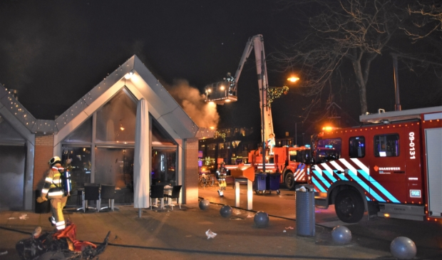 Het Soester korps kreeg assistentie van de brandweer uit Amersfoort. Eempers © BDU media