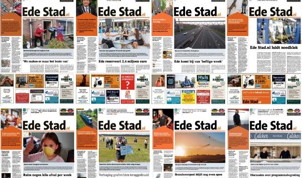 <p>Een aantal voorpagina&#39;s die we maakten sinds de coronacrisis uitbrak. Op EdeStad.nl brengen we het laatste nieuws.&nbsp;</p>