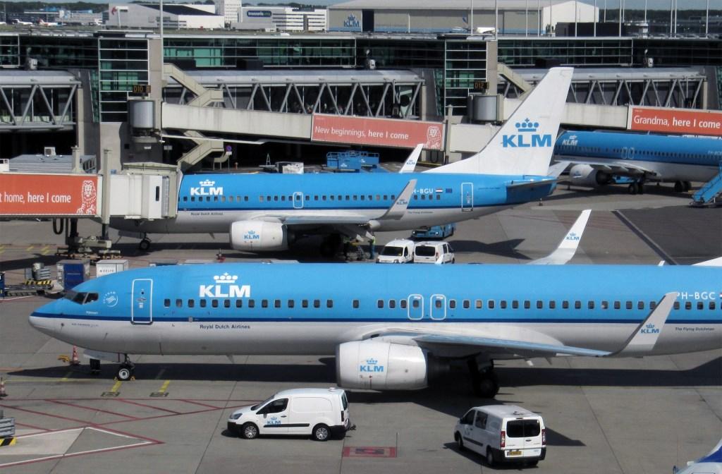 KLM vliegtuigen (archieffoto).