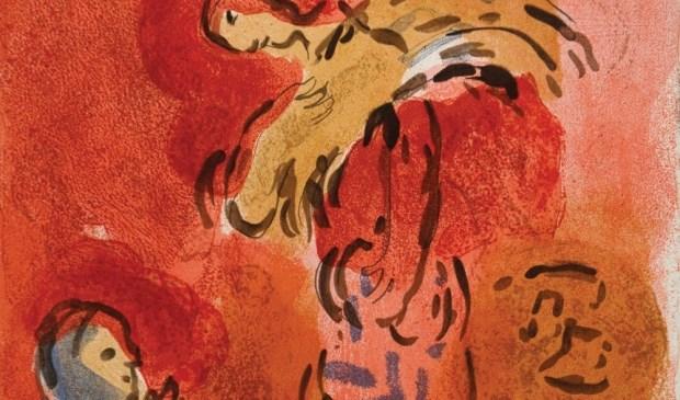 'Ruth verzamelt aren' van Marc Chagall