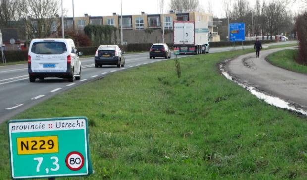 <p>Wethouder Dekker gaat nogmaals aandringen op een verlaging van de maximumsnelheid op de Parallelweg van de N229 (het betreft niet de parallelweg op de foto, maar een stuk verderop tussen Odijk en Werkhoven).</p>