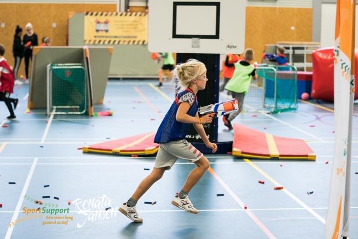 Kinderen in actie tijdens Sportnite