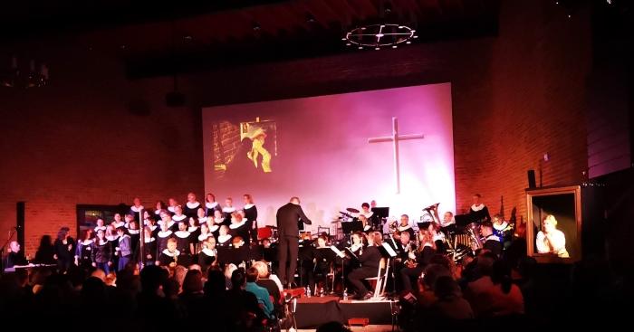 Muziekvereniging Lisiduna tijdens Lisiduna meets Rembrandt
