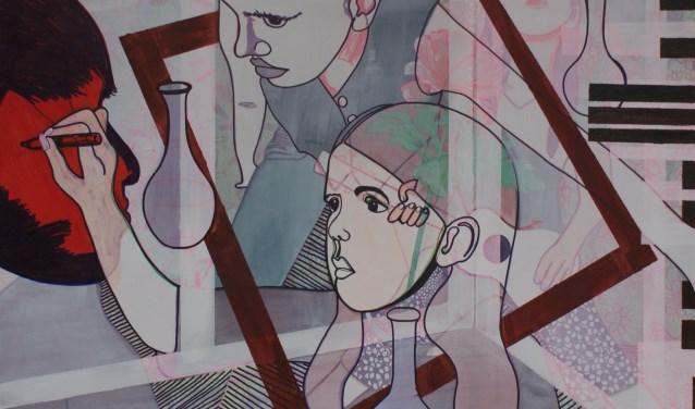 Een schilderij van Anja Kok.