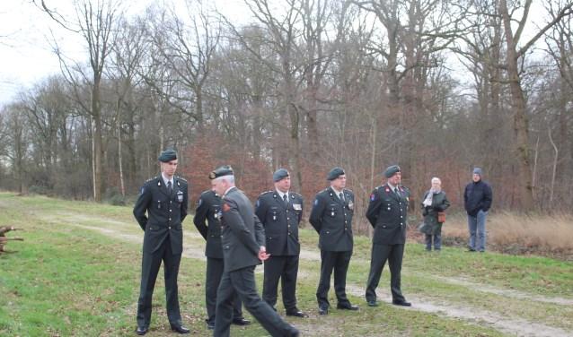 Ook militairen woonden de ceremonie bij.