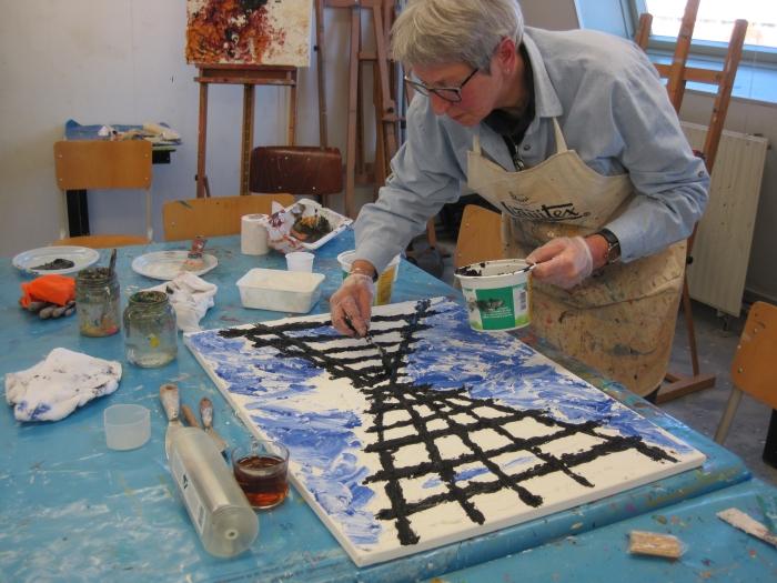 """Workshop """"Schilderen als Armando, op de Ärmando-dag bij Kunstcentrum Collage in Hoevelaken"""