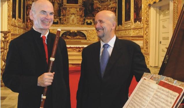 Traversospeler Wilbert Hazelzet en klavecinist Jacques Ogg spelen op zaterdag 15 februari muziek uit de hoogtijdagen van de barok.