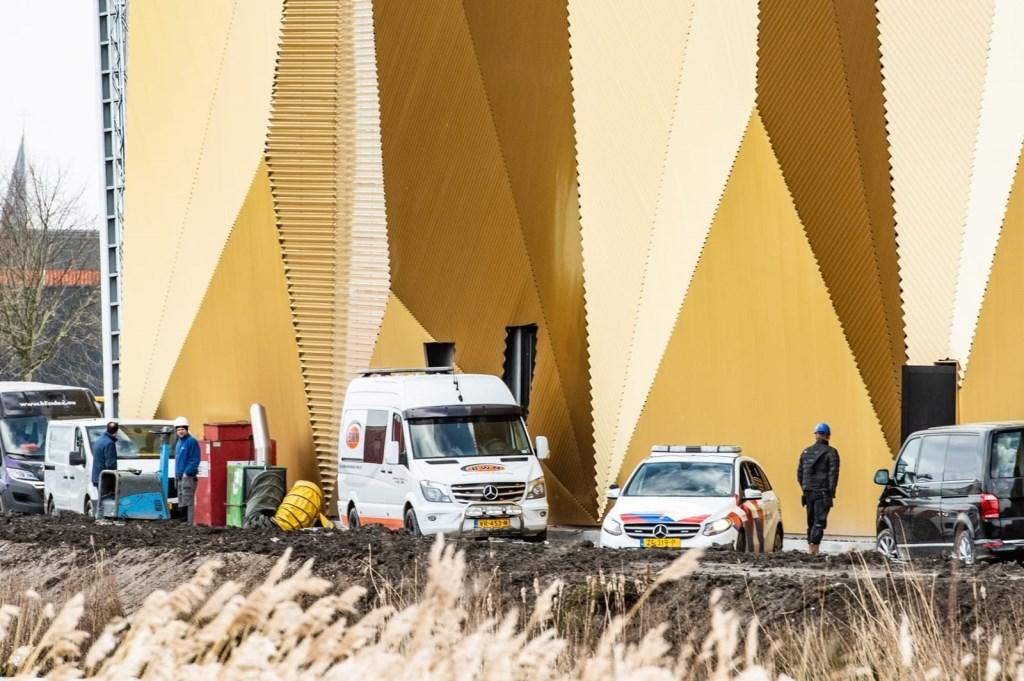 De hulpdiensten rukten uit naar het geouw van de Koninklijke Munt Koen Laureij © BDU media