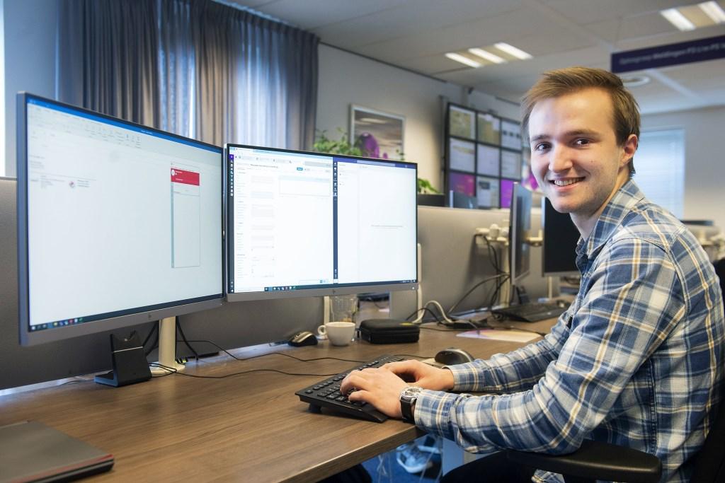 Ward Besseling: ,,Werken met computers heeft altijd al mijn belangstelling gehad.'' Foto Rinus van Denderen © BDU media