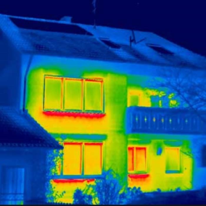 Een warmtescan toont waar isolatie werkt